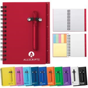 All-in-one Mini Notebook With Self-stick Tabs And Shorty Ballpoint Pen
