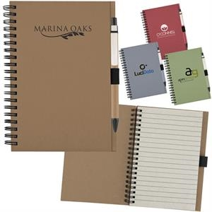 Spiral Bound Notebook Has Recycled Front And Back Cover, 60 Lined Pages And Pen