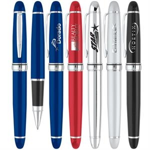 Embassy - 2 Piece Roller Point Pen With Enamel Or Metallic Finish Body
