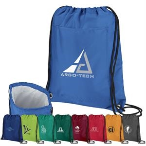 Recreation - Cooler Pack Made With Polyester With Bold Color And Black Drawstring Cord