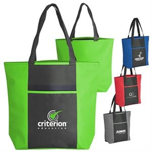 Torrance - 600 Denier Bold Color Polyester Tote Bag