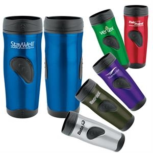 16 Oz Stainless Steel Tumbler With Plastic Liner, Double Insulation And Lid