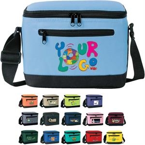 Deluxe 6-pack Cooler: Poly 600d Insulated, Heat-sealed Lining