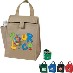 Egreen - Lunch Bag With Bottle Pocket, 90g Non Woven Polypropylene, Insulated