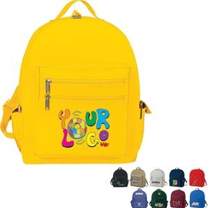 "All-purpose Backpack. Poly 600d. Approximate Size: 13"" X 16"" X 6"""