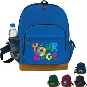 Suede Bottom Backpack With B And P Holder. Poly 600d