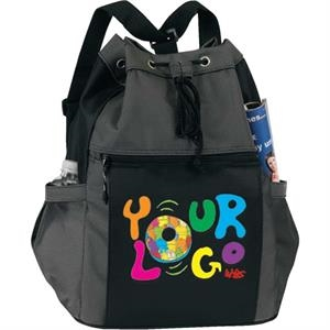 Drawstring Tote/ Backpack. Poly 600d And Poly 1200d (2 Tone)
