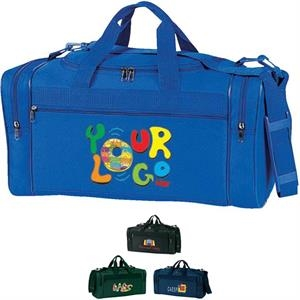 "Promotional Travel Bag. Poly 600d. Approximate Size: 20"" X 10"" X 9"""