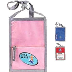Badge/ Id Organizer Neck Wallet. 600d. While Supplies Last