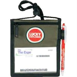 Trade Show Neck Wallet Ii. Poly 600d Ripstop. While Supplies Last