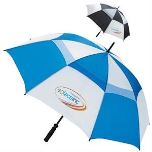 "Ventilated Large 62"" Golf Umbrella With Soft Grip Handle"