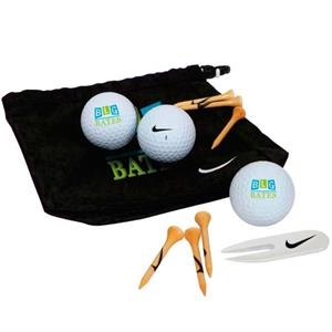 Nike (R) Golf Valuables Pouch 3-Ball Kit - Power Distance