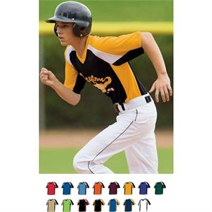 Nitro - Youth Pinhole Mesh Performance Fabric Baseball/softball Jersey. Sold Blank
