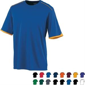 Motion - 3 X L - Adult Polyester Wicking Smooth Knit, Odor Resistant, Crew Neck Shirt. Sold Blank