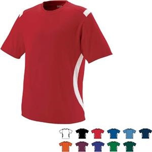 All-conference - 100% Polyester Performance Youth Crew Shirt With Set-in Sleeves. Sold Blank