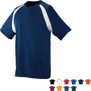 3 X L - Adult Wicking Color Block Jersey With Raglan Sleeves. Sold Blank