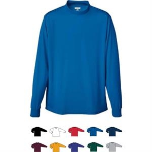 100% Polyester Performance Youth Wicking Mock Turtleneck. Sold Blank