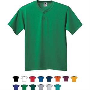 3 X L - Adult Six-ounce Two-button Baseball Jersey. Sold Blank