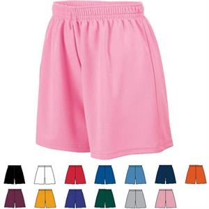 2 X L - Ladies 100% Polyester Wicking Mesh Short. Sold Blank