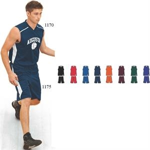 S- X L - Adult Polyester Wicking Basketball Short With.