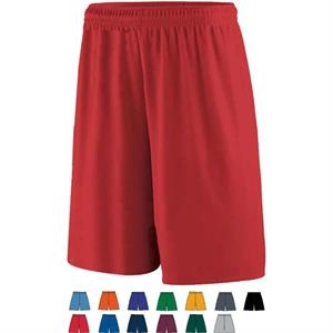 2 X L - Adult Training Short Made Of 100% Polyester Wicking Knit. Sold Blank