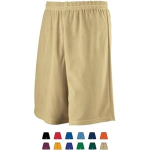 2 X L - Adult Longer Length Mini Mesh League Short. Sold Blank
