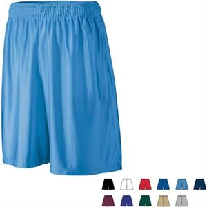 S- X L - Adult Polyester Dazzle Fabric Long Short With Covered Elastic Waistband. Sold Blank