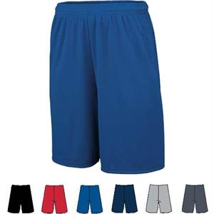 S- X L - Adult Polyester Wicking Knit Training Short. Sold Blank