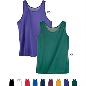 3 X L - Adult 100% Nylon Tricot With Wicking Finish Tank Top. Sold Blank