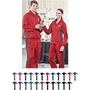 Medalist - 2 X L - Adult Polyester Front Zipper Jacket With Raglan Sleeves. Sold Blank