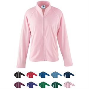 S- X L - Ladies Heavyweight Polyester Jacket With Front Zipper. Sold Blank
