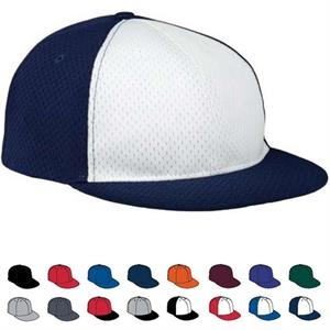 Adult Cap With 100% Polyester Athletic Mesh With Tricot Backing. Sold Blank