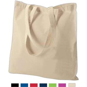 Black - Cotton Canvas Budget Tote Bag With Self-fabric Handles. Sold Blank