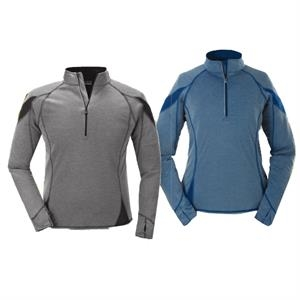 S- X L - Ladies' Bamboo Quarter-zip Base Layer