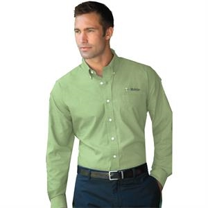 Classics - S- X L - Men's Nailhead Textured Broadcloth Shirt With Wrinkle-resistant Finish