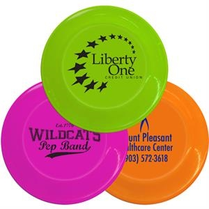 "Neon Colors - Plastic 9.25"" Flyers Can Also Double As A Paper Plate Holder"