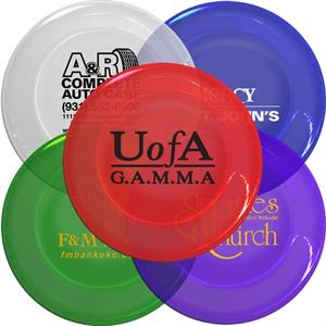 "Translucent Colors - Plastic 9.25"" Flyers Can Also Double As A Paper Plate Holder"