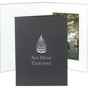 "Black - With Border - Vertical Portrait Folder Holds 4"" X 6"" Frame"
