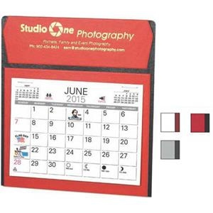 Ambassador - Vertical Easel Design Desk Calendar With Choice Of Memo Style Pad And Envelope