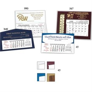 "The Stanley - Monthly Desk Calendar 5 3/4"" X 3 1/2"" With Memo Style Pad And Mailing Envelopes"