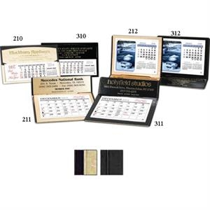 "The Crest - Monthly Desk Calendar With 4 3/8"" X 3 1/4"" Memo Style Pad"