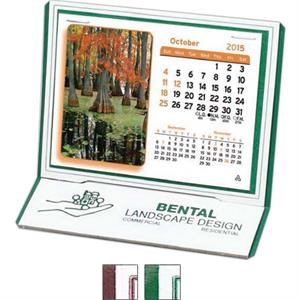 "The Monterey - Monthly Desk Calendar With Stock Design And 4 3/8"" X 3 1/4"" Monthly Pad"