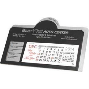 Daytona - Desk Calendar With Service Record Area And Attaches To Auto Visor