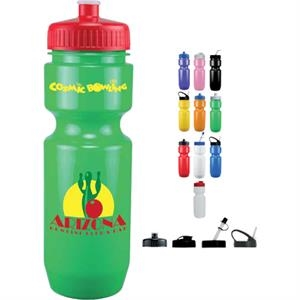 Straw Tip Lid - Opaque Sport Bottle. 22 Oz