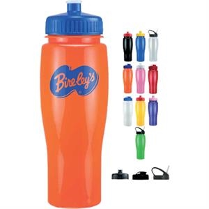 Push Pull Lid - Opaque Contour Sports Bottle, 24 Oz. Bpa Free