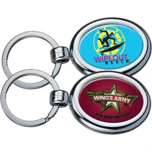 Oval - Two-sided Chrome Plated Domed Key Tag