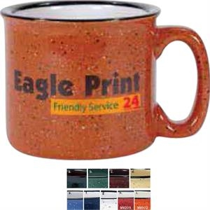 14 Oz Orange Vitrified Ceramic Mug