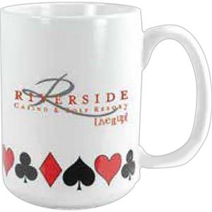 Card Suit - Vitrified Mug, 15 Ounces