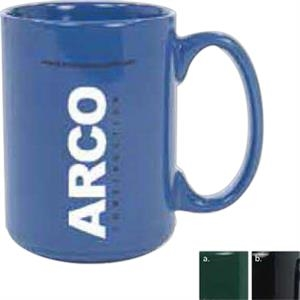 Vitrified Ceramic Restaurant Mug, 13 1/2 Ounces