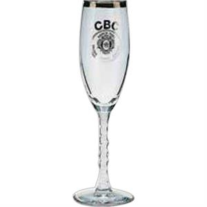 Libbey (r) - Clear Swirl Stem Flute, 5 3/4 Ounces